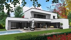 Maison Moderne Toit Plat : cabinet de maitrise d 39 oeuvre c maison contemporaine ~ Nature-et-papiers.com Idées de Décoration