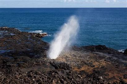 Kauai Hawaii Blowhole Noch Pali