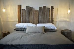 Tete De Lit En Bois : tete de lit bois de grange ~ Teatrodelosmanantiales.com Idées de Décoration