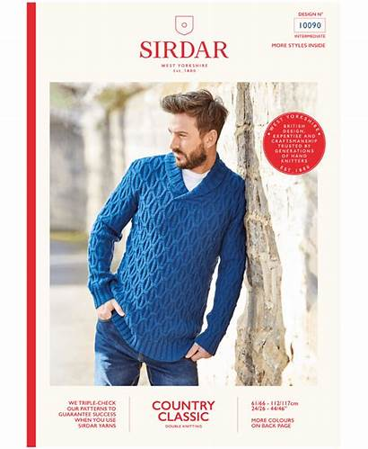 Shawl Classic Country Collar Sirdar Sweater Mens
