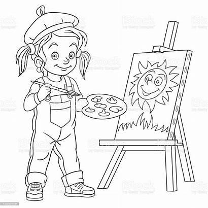 Sun Cartoon Drawing Coloring Painting Acrylic Illustration