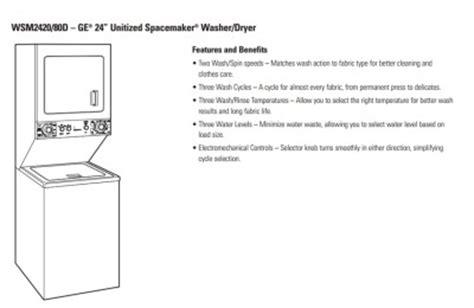 washer dryer ge spacemaker washer dryer