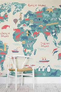 best world map wall murals Top 5 Pins of the Week: Kids Decor - Petit & Small