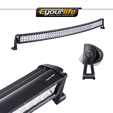 eyourlife 50 inch curved led light bar 288w