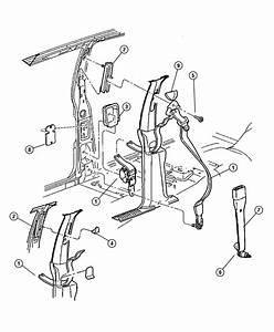 2001 Jeep Grand Cherokee Adjuster  Seat Belt Turning Loop