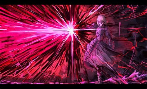 anime girls anime saber alter fatestay night fate series
