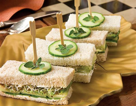 savoury canapes cucumber avocado tea sandwiches recipe teatime