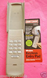 Craftsman Garage Door Keypad Reset Code by Craftsman Garage Door Keyless Keypad Wireless 53876 139