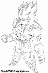 Dragon Ball Z Super Saiyan 4 Coloring Pages - Coloring Home