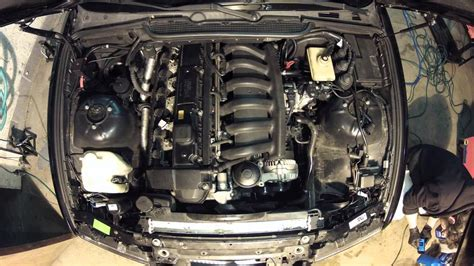 day headgasket change beginsremoving parts bmw