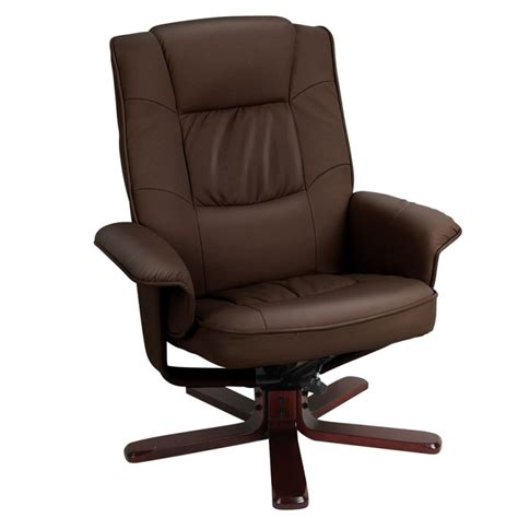 pu leather swivel recliner arm chair with ottoman buy