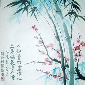 Original Chinese Plum Blossoms / Bamboo Painting Wall Art ...