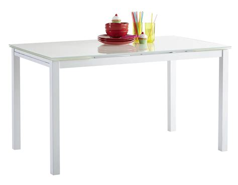 table de cuisine contemporaine table de cuisine blanche contemporaine extensible métal et