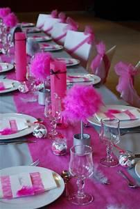 Deco Table Rose Et Gris : decoration de table fushia et gris ~ Melissatoandfro.com Idées de Décoration