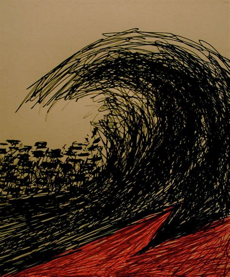 tsunami drawing  chris riley
