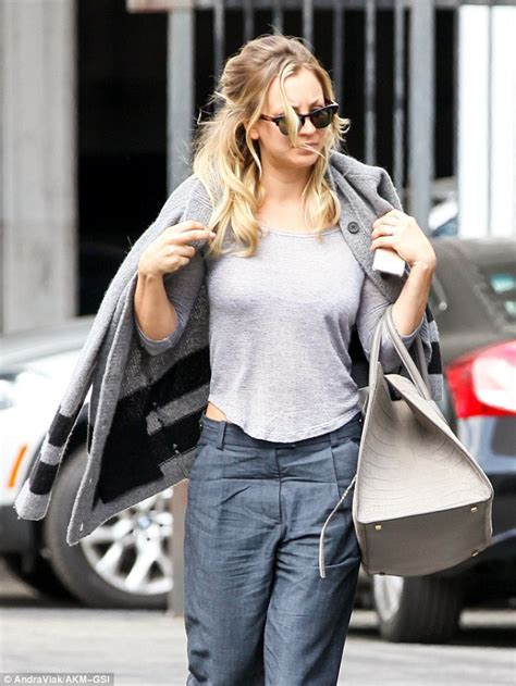 kaley cuoco flashes diamond ring the wedding ringer daily mail online