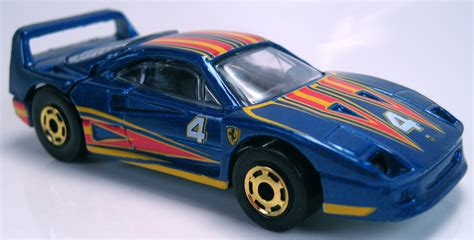 Red seems to be the most popular color for ferrari the official word is that they were all finished in red. Ferrari F40 - Hot Wheels Wiki
