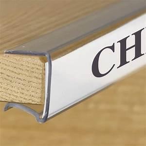 shelf clip label holder clear 7 8quoth x 6quotw x 1quotd 10 pkg With clear shelf label holders