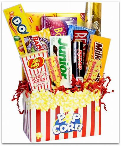 Basket Gift Clipart Candy Theater Gifts Snack