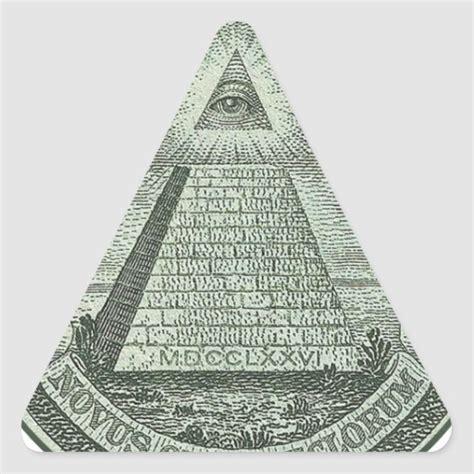 Illuminati Triangle Eye Illuminati All Seeing Eye Triangle Sticker Zazzle