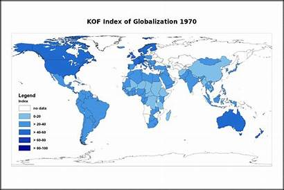 Kof Global Map 1970 Interactions Globalization Countries