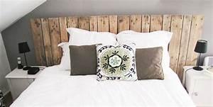 Tete De Lit En Bois Pas Cher : comment fabriquer sa t te de lit avec des palettes ~ Teatrodelosmanantiales.com Idées de Décoration