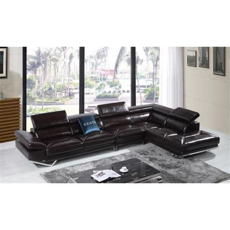 grand canape cuir canapé d 39 angle en cuir véritable siena pop design fr