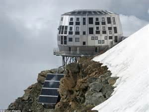 refuge du gouter the most futuristic and ski lodges from around the world daily mail
