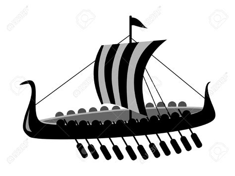 Viking Boat Flags by Viking Ship Clipart Flag Pencil And In Color Viking Ship