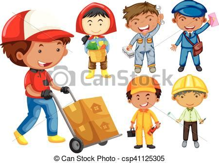 12202 different professions clipart doing different types of illustration vector