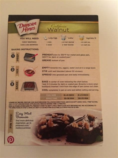 duncan hines decadent california walnut brownie mix review