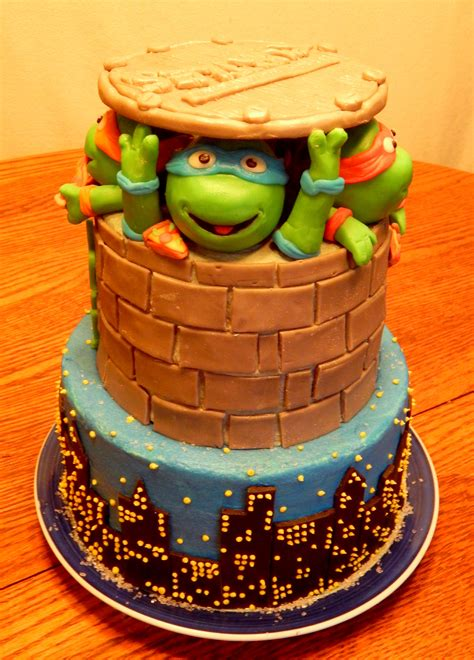 teenage mutant ninja turtles cake cakecentralcom