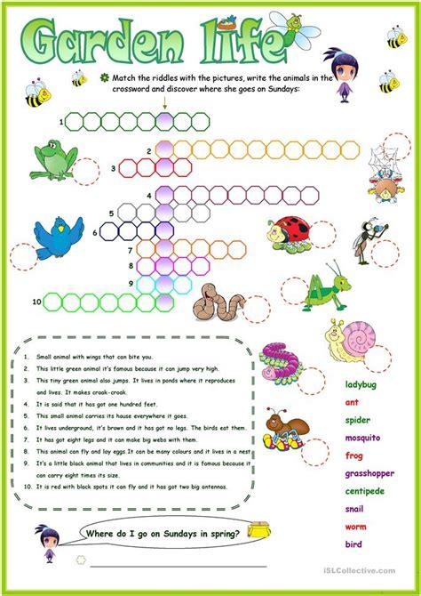 crossword key worksheet free esl printable