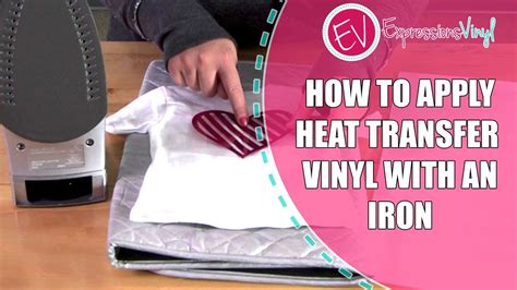 heat transfer vinyl   iron youtube