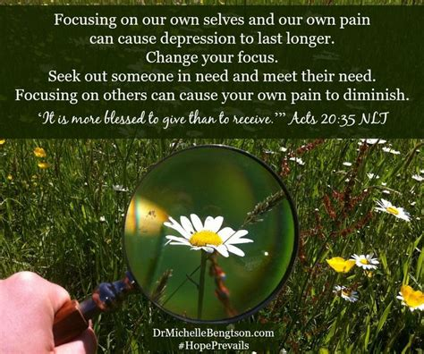 Focusing On Our Own Selves And Our Own Pain Can Cause