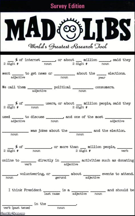 mad libs for adults printable preschool crafts names