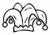 Narrenkappe Chapeau Coloriage Giullare Colorare Cappello Malvorlage Bouffon Disegno Jester Kleurplaat Muts Harlekijn Gorro Dibujo Ausmalbild Disegni Colorear Arlequin Coloring sketch template