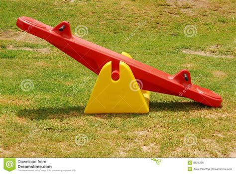 house plans for free seesaw in park royalty free stock image image 8124266