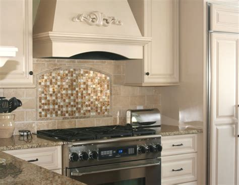 Houzz Glass Backsplash : Traditional Glass And Stone Kitchen Backsplash