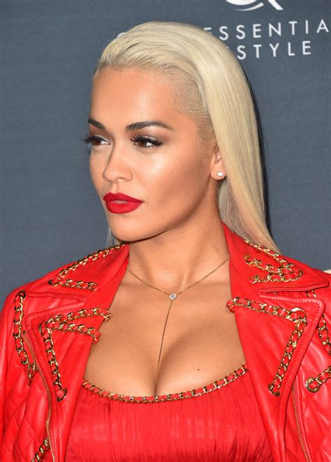 Rita Ora Long Straight Cut Rita Ora Hair Looks Stylebistro