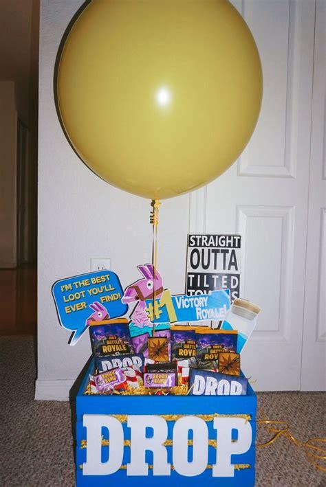 diy fortnite drop box birthday party decorations diy