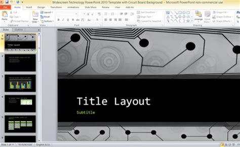 widescreen technology powerpoint  template