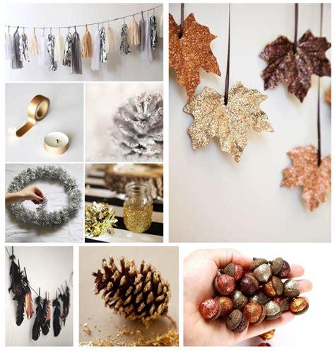 Herbstdeko Fenster Diy by Herbst Deko Diy In Metallic Und Glitter Monaqo