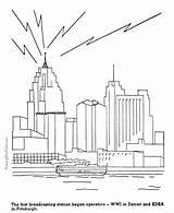 Coloring Pages History Broadcasting Radio American Patriotic Printing Help Dot Timeline Worksheets sketch template