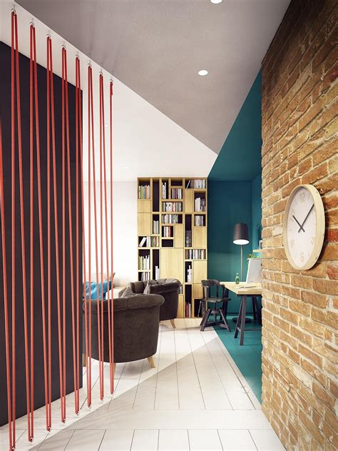 A Stunning Apartment With Colorful Geometric Design by A Stunning Apartment With Colorful Geometric Design