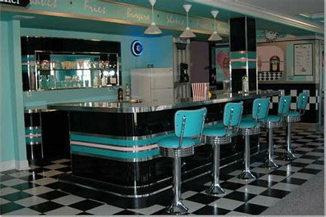 Home Diner: Bar Stools, Custom Bar, Diner Booths, Basement