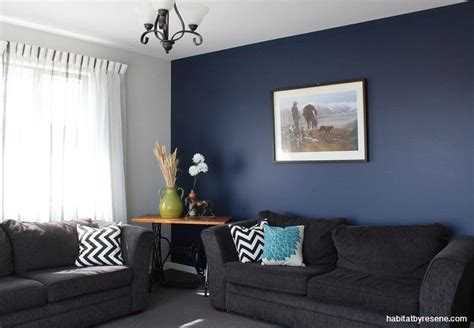 love  deep blue feature wall statement colour