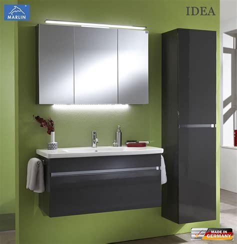 waschtisch mit unterschrank und spiegelschrank marlin idea badm 246 bel set mit 100 cm keramik waschtisch