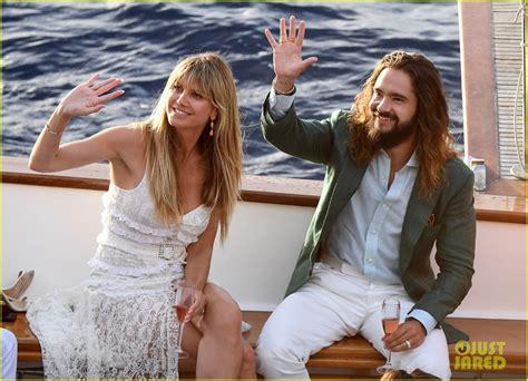 heidi klum tom kaulitz kiss   boat