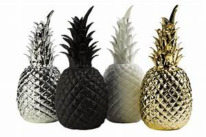 Objet Deco Ananas : d coration pineapple small 14 x h 32 cm porcelaine noir pols potten made in design ~ Teatrodelosmanantiales.com Idées de Décoration